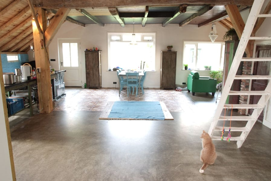 goedkope betonlook vloer