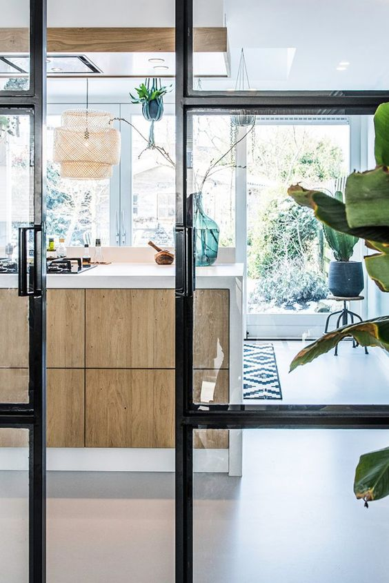 Gietvloer in hippe keuken