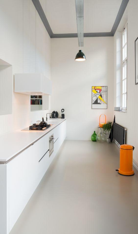 inspiratie gietvloer in de keuken