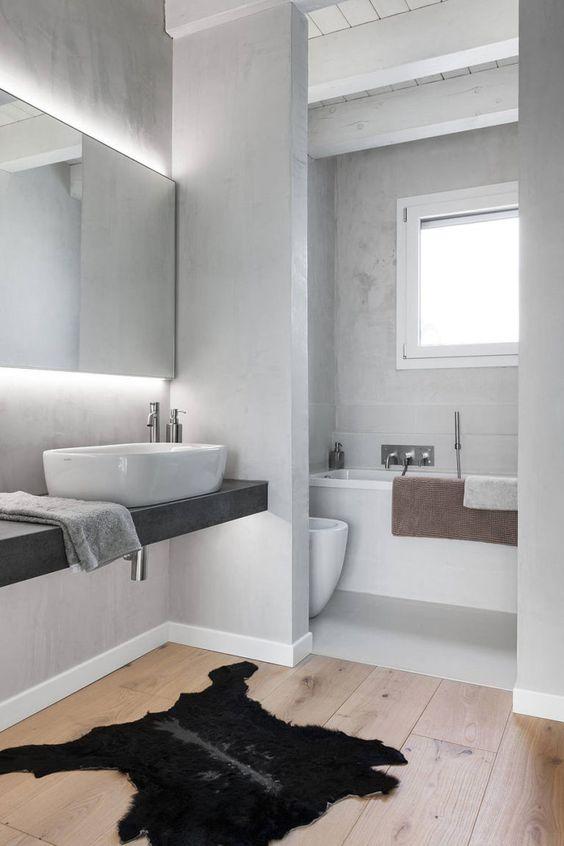 gietvloer hout badkamer