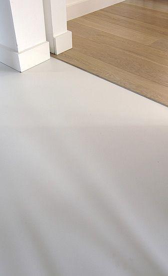 overgang houten vloer gietvloer